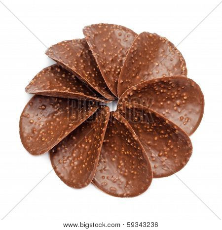Chocolate Nut Chips In Shape Of Flower