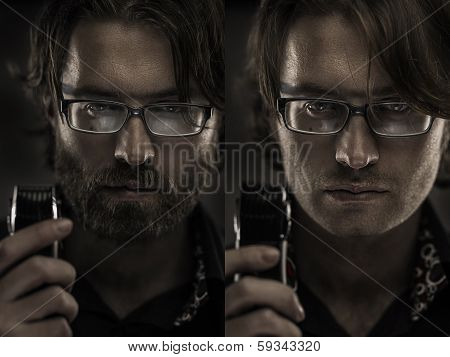 Concept Of Man Shaving