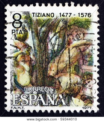Postage Stamp Spain 1978 Judgment Of Paris, By Titian