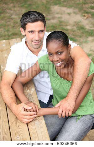 portrait of a couple outdoors
