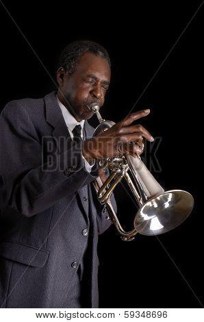 Black Jazz Flugelhorn Player