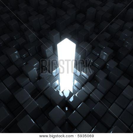 Alone glowing bar