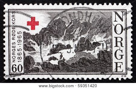 Postage Stamp Norway 1965 Mountain Scene
