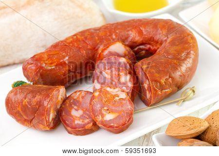 Chorizo On Dish