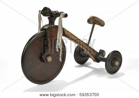 Children's Tricycle On A White Background