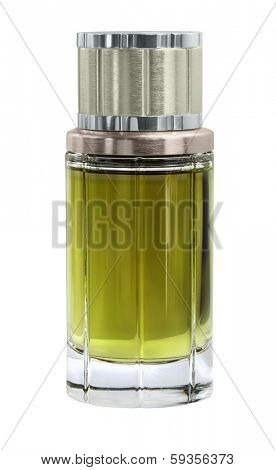 French parfume for men isolated with path on white background.