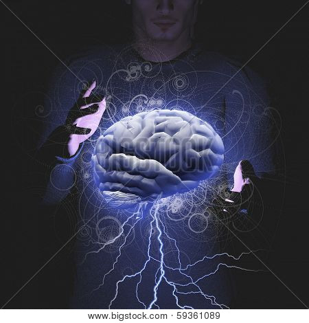 Man controls brain storm