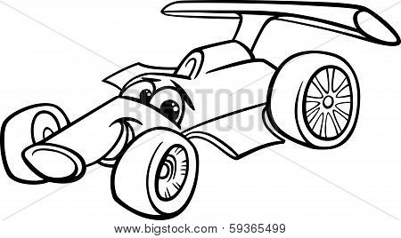 Racing Car Bolide Coloring Page