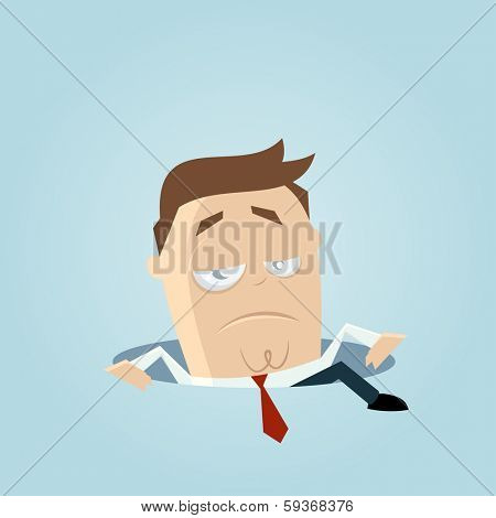businessman climbing out of a hole