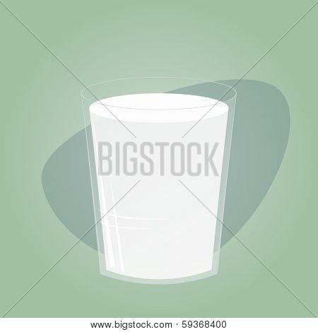 retro glass of milk