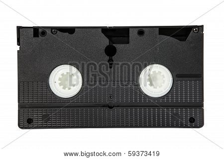 video cassette tape isolated white background