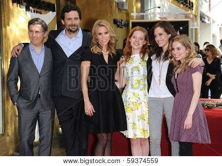 LOS ANGELES - JAN 29:  Chris Parnell, Jeremy Sisto, Cheryl Hines, Jane Levy, Carly Chaikin & Allie Grant Walk of Fame Honors Cheryl Hines  on January 29, 2014 in Hollywood, CA