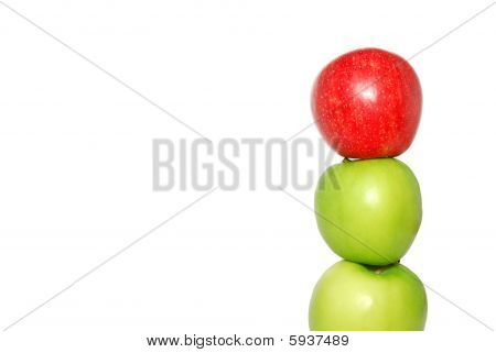 Red Apple At The Top Of A Pile Of Apples