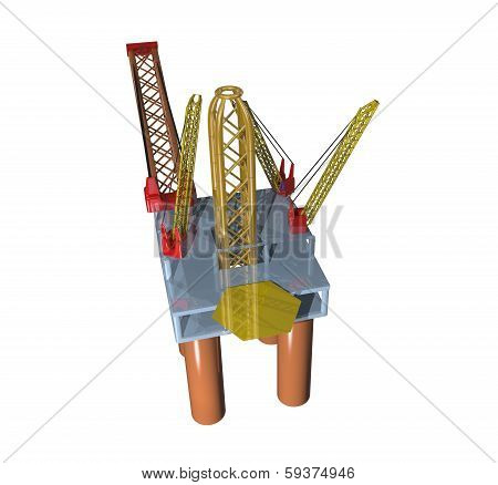 offshore oil platform top