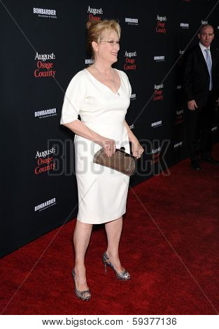 LOS ANGELES - DEC 16:  Meryl Streep arrives to the