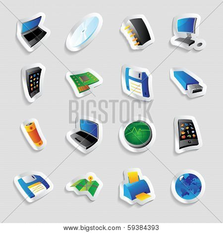 Icons For Industry And Technology
