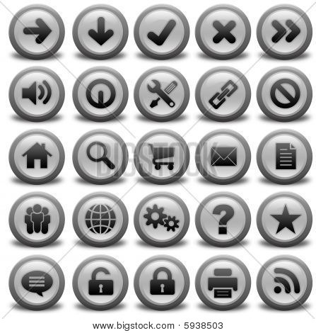 Collection Of Gray Icons