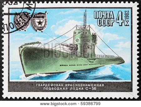 Russian Submarine Stamp
