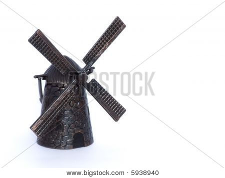Windmill over white background