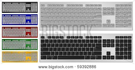 Keyboard with 104 keys