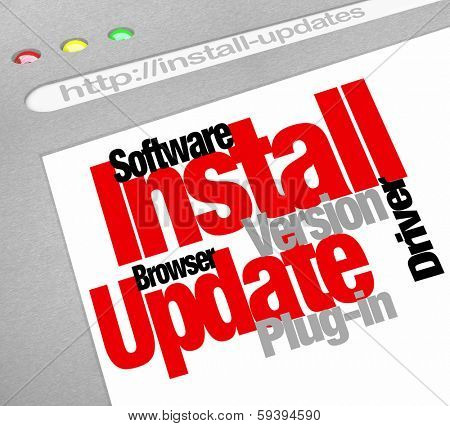 Install Update Computer Download Plug-in Software Patch