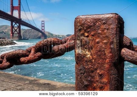 Rusted Old Chain Fence, Golden Gate Bridge