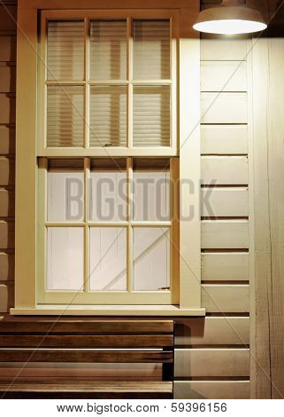 Window And  Street Lamp