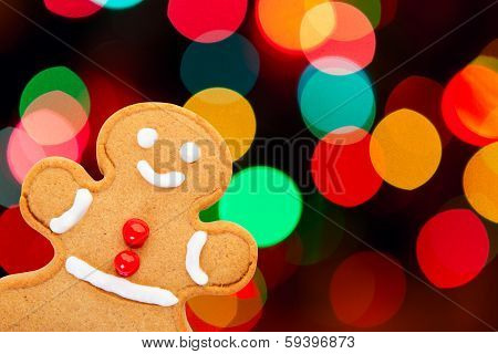 Gingerbread Man With Bokeh