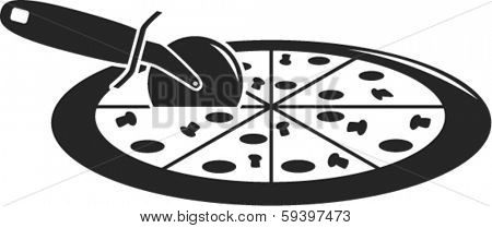 pizza and cutter symbol