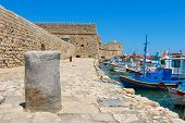 Heraklion Harbour And Castle. Crete, Greece