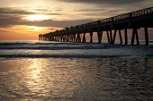 image of early morning  - Jacksonville Beach - JPG