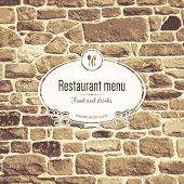 stock photo of stone house  - Restaurant menu design - JPG