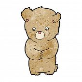 cartoon shy teddy bear