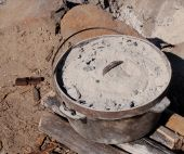 Cast Iron Camp Oven - outdoor cooking pot