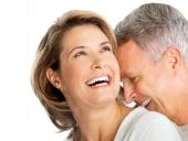 image of elderly couple  - Happy elderly couple in love - JPG