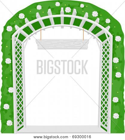 Illustration of a Trellis Acting as a Welcome Arch
