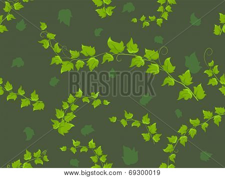 Background Illustration Featuring a Seamless Vine Pattern