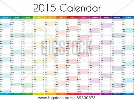 2015 Calendar - ENGLISH VERSION