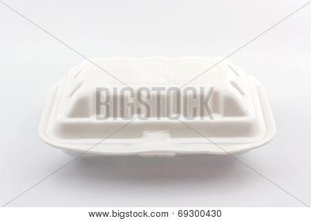 White Styrofoam Box.