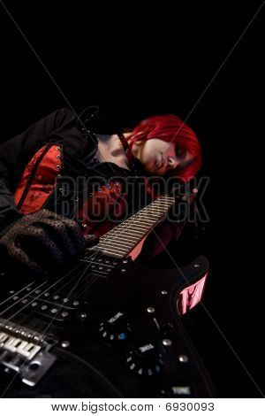Gothic Guitar Player, Low Angle View