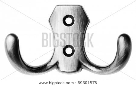 Metal hanger isolated on white -Clipping Path