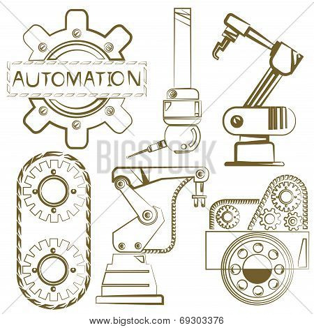 robotic set, mechanical tools