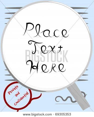 Business text frame