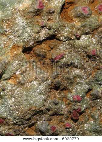 Detail, Rubies In Mica Schist,