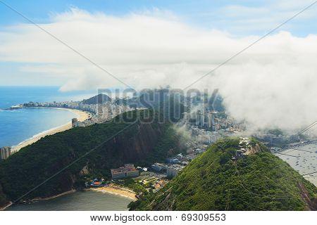 Aerial View Copacabana, Red Beach From Sugarloaf, Rio De Janeiro