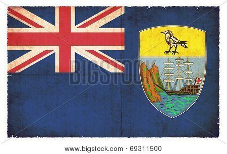 Grunge Flag Of Saint Helena (great Britain)