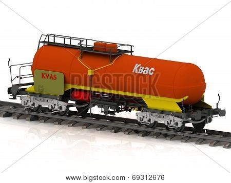 Kvass Railway Wagon Of The Wanted Colour