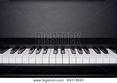 Copyspace image of piano keyboard