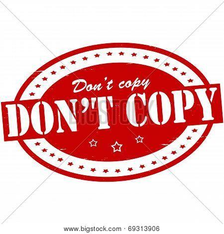 Don T Copy
