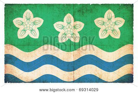 Grunge Flag Of Cumberland (great Britain)